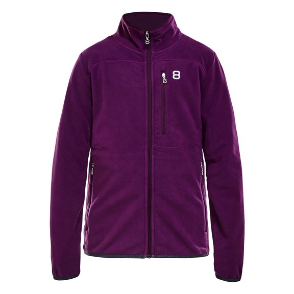 8848 ALERT JR FLEECE JKT PLUM