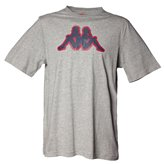 Kappa ZOBI OUTLINE LOGO TEE GREY