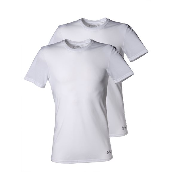 Under Armour CORE 2 PACK CREW WHITE