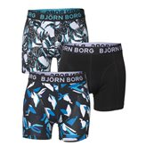 Björn Borg 3P SHORTS TROPICAL BLACK