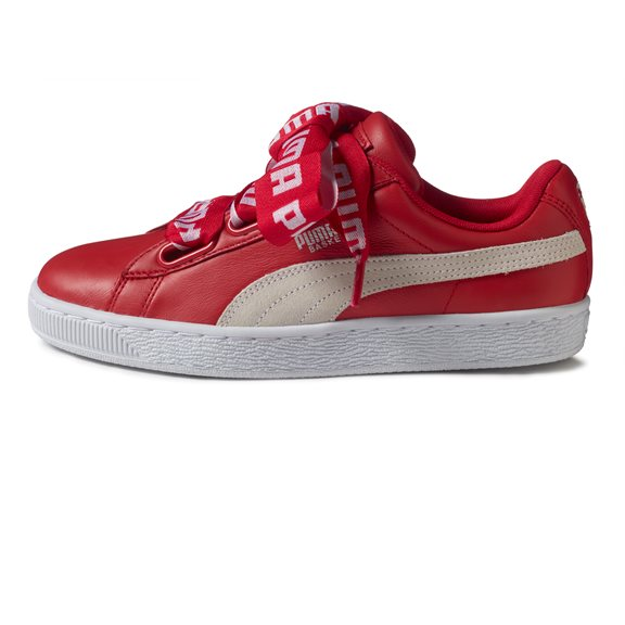 Puma BASKET HEART PATENT RED W