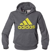 Adidas YB LOGO HOOD GREY/YELLOW