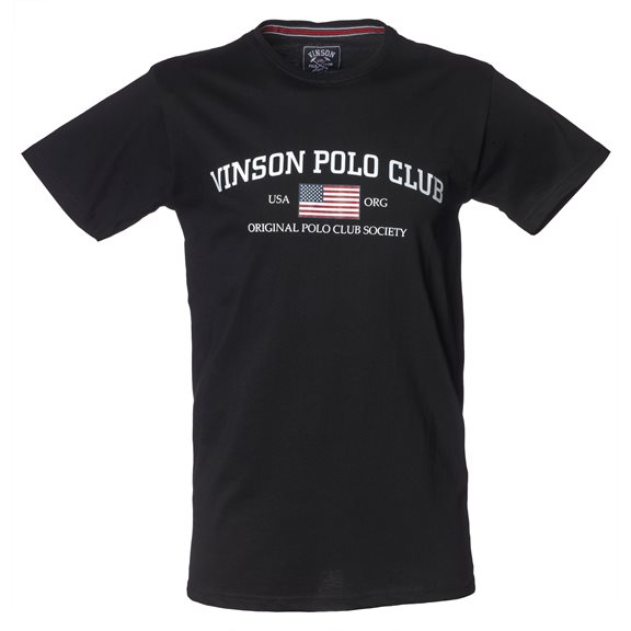Vinson Polo Club HENLEY T-SHIRT BLACK