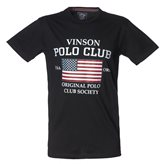 Vinson Polo Club JAN T-SHIRT BLACK