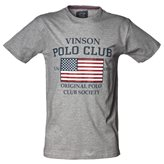 Vinson Polo Club JAN T-SHIRT GREY MELANGE