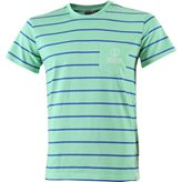 Marine KOSTER STRIPED TEE GREEN